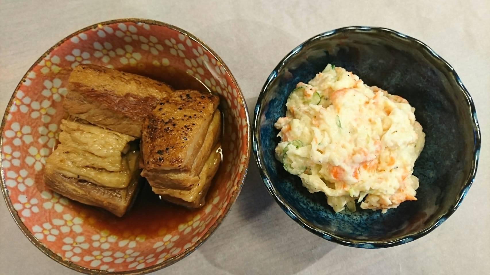 酒彩 羽々和|角煮とポテトサラダ