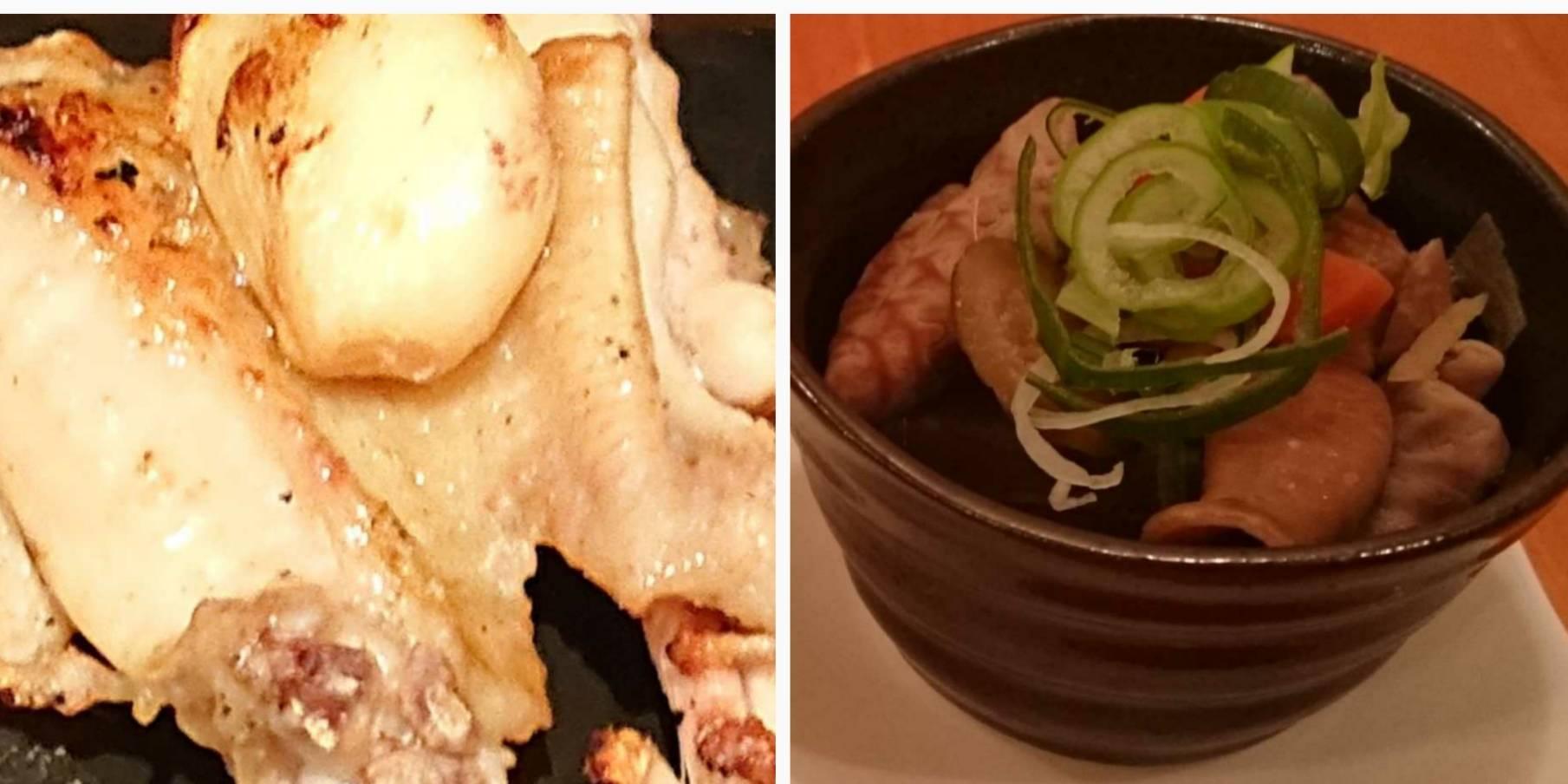 ビストロ 暖|合鴨のオレンジソース、ミニ暖サラダ、れんこんの黒コショー炒め