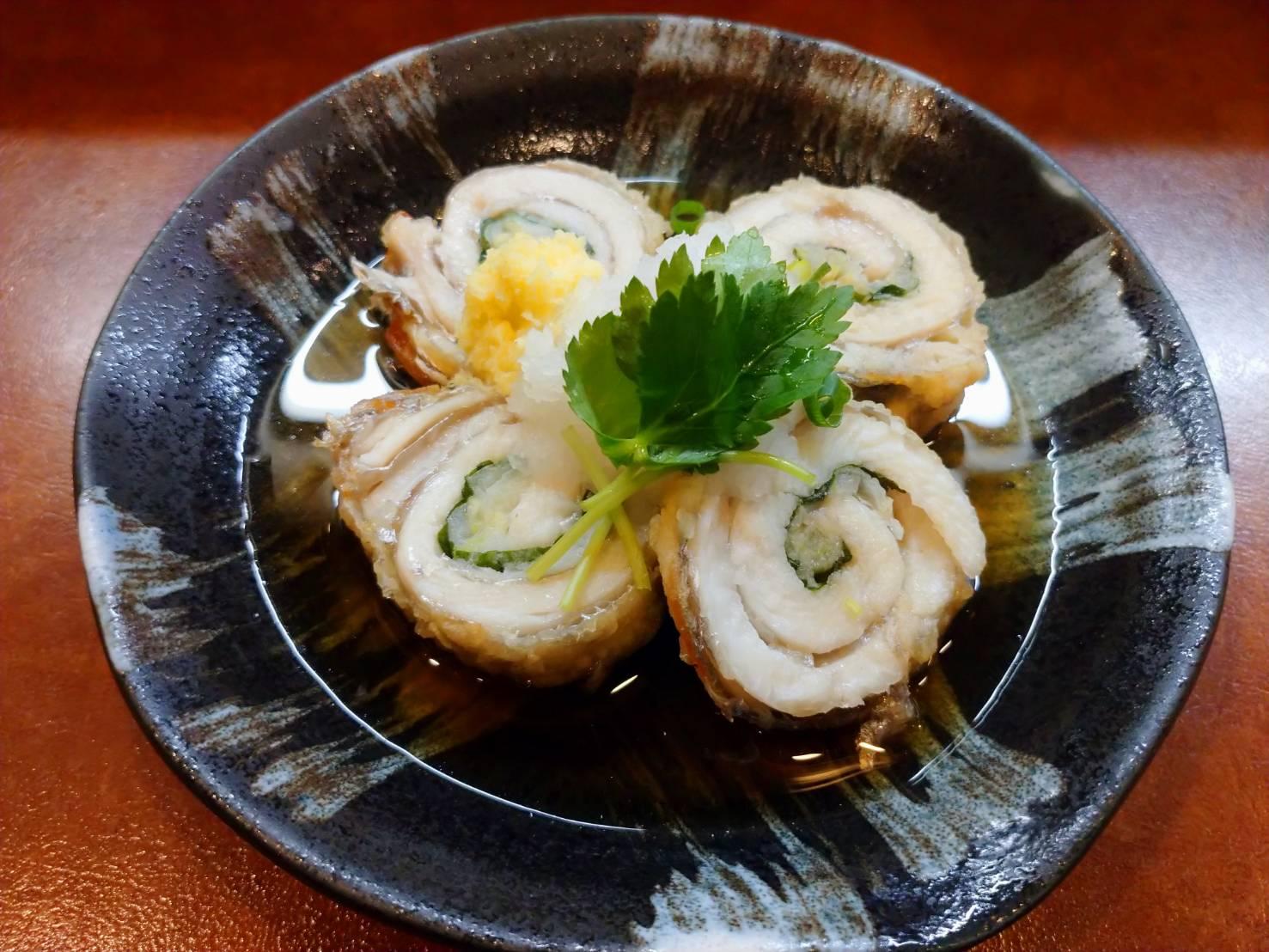 飲み食い処 ぽんきち|太刀魚のネギ巻き揚